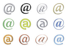 Email signs Royalty Free Stock Image