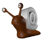 Email snail Royalty Free Stock Image