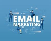 Email som marknadsför den typografiska affischen royaltyfri illustrationer