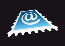 Email stamp perspective Royalty Free Stock Photos