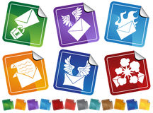 Email Sticker Button Set Royalty Free Stock Photos