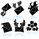 Email Sticker Button Set Royalty Free Stock Photo