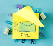 Email on a sticky note Stock Images