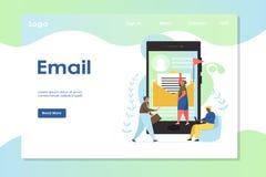 Email strony internetowej l?dowania strony projekta wektorowy szablon ilustracja wektor
