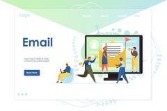 Email strony internetowej l?dowania strony projekta wektorowy szablon royalty ilustracja