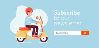 Email-subscrever-formulário ilustração stock