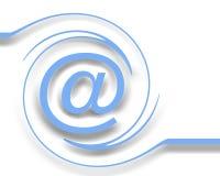 Email sur le blanc Images libres de droits