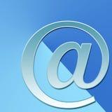 Email sur le bleu Image stock