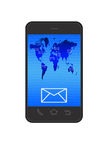 Email sur le smartphone Image stock