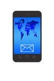 Email sur le smartphone illustration stock