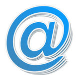 Email Symbol. Blue email symbol on white background Stock Images