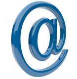 Email symbol 3D. Isolated Royalty Free Stock Image