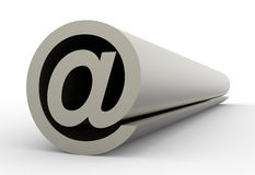 Email symbol,abstract E-mail symbol. Email symbol on a white background Royalty Free Stock Images