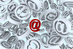 Email symbol on the air Royalty Free Stock Image