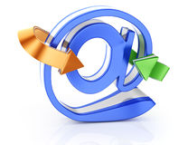 Email symbol with arrows Stock Images