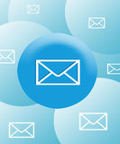 Email symbol background Stock Photos