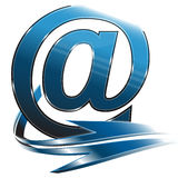 Email symbol blue Royalty Free Stock Images