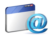 Email symbol browser Royalty Free Stock Images