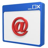 Email symbol browser Stock Photos