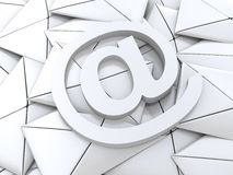 Email symbol on business letters concept for internet, contact u Royalty Free Stock Images