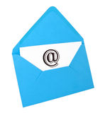 Email symbol card in blue envelope Stock Photography
