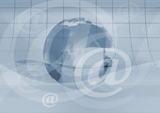 Email symbol and earth Stock Image