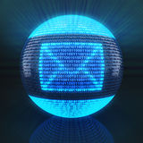 Email symbol on globe formed by binary code Royalty Free Stock Photography