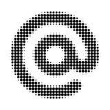Email Symbol Halftone Dotted Icon stock illustration