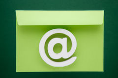 Email Symbol Internet Icon. Sign Green Envelope Stock Photo
