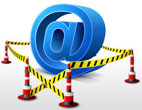 Email symbol located in restricted area Royalty Free Stock Photography