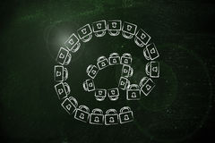 Email symbol made of locks: internet security and confidential i Stock Photos