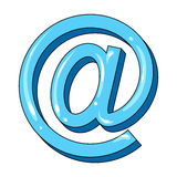 Email symbol.Mail and postman single icon in cartoon style vector symbol stock illustration web. Stock Photography