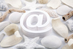 Email symbol with potpourri Royalty Free Stock Image
