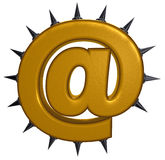 Email symbol with prickles Stock Images