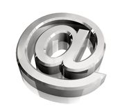 Email symbol in silver (3d) Royalty Free Stock Photography