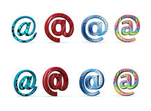 Email symbol with style icon Royalty Free Stock Image