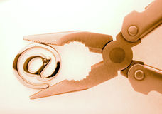 @ - eMail-Symbol u. -zangen Stockfoto