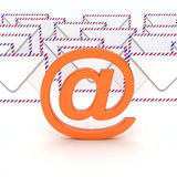 Email symbol which envelopes on back Royalty Free Stock Photography