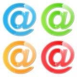 Email Symbols. Set of email symbols on white background Royalty Free Stock Photo