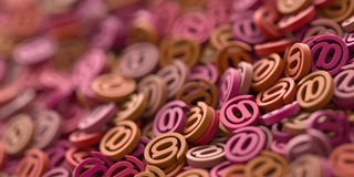 Email symbols, 3d rendering background Royalty Free Stock Photography