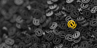 Email symbols, 3d rendering background Royalty Free Stock Image