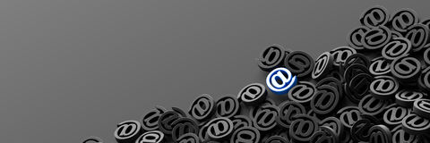 Email symbols, 3d rendering background Stock Photo