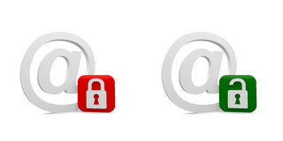 Email symbols Royalty Free Stock Photos