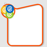 email symbols and paper clip Royalty Free Stock Images