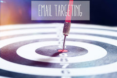 Email Targeting concept with darts arrow Stock Images