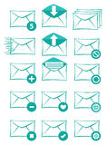 Email and Text Messaging Vector Icon Set Stock Photo