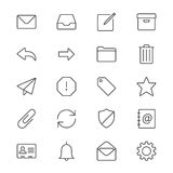 Email Thin Icons Stock Image