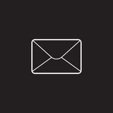 Email thin line icon, letter outline vector logo Royalty Free Stock Image