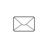Email thin line icon, letter outline vector logo Royalty Free Stock Photos