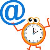 Email time Royalty Free Stock Photo